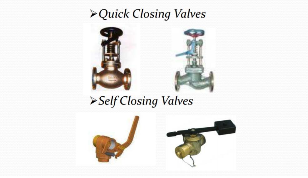 Quick Closing Valves