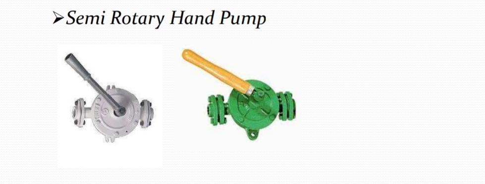Semi Rotry Hand Pump